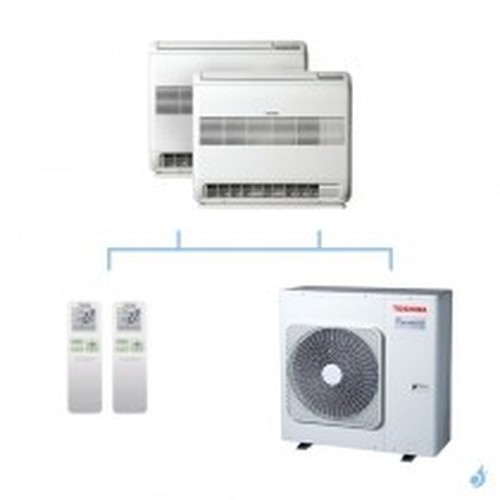 TOSHIBA climatisation bi split console gaz R32 U2FVG 7,5kW RAS-B10U2FVG-E1 + RAS-B10U2FVG-E1 + RAS-3M26U2AVG-E A++