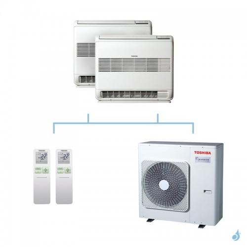 TOSHIBA climatisation bi split console gaz R32 U2FVG 7,5kW RAS-B10U2FVG-E1 + RAS-B18U2FVG-E1 + RAS-3M26U2AVG-E A++