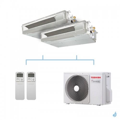TOSHIBA climatisation bi split gainable compact gaz R32 3,3kW RAS-M07U2DVG-E + RAS-M10U2DVG-E + RAS-2M10U2AVG-E A++