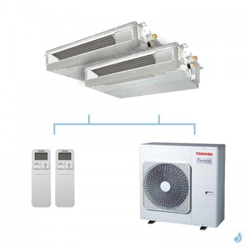 TOSHIBA climatisation bi split gainable compact gaz R32 7,5kW RAS-M07U2DVG-E + RAS-M13U2DVG-E + RAS-3M26U2AVG-E A++