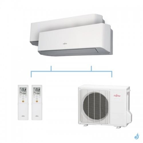 FUJITSU climatisation bi split mural gaz R410A LMCE 6,8kW ASYG12LMCE + ASYG12LMCE + AOYG24LAT3 A++