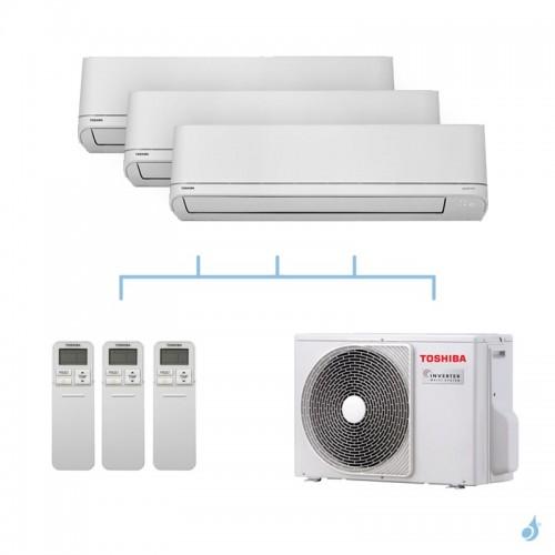 TOSHIBA climatisation tri split mural R32 Shorai 5,2kW RAS-M07PKVSG-E + RAS-M07PKVSG-E + RAS-B16PKVSG-E + RAS-3M18U2AVG-E A++