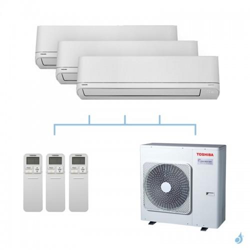 TOSHIBA climatisation tri split mural R32 Shorai 8kW RAS-B13PKVSG-E + RAS-B13PKVSG-E + RAS-B22PKVSG-E + RAS-4M27U2AVG-E A++