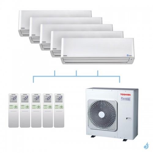 TOSHIBA climatisation tri split mural gaz R32 Super Daiseikai 9 10kW RAS-M16PKVPG-E x3 + RAS-5M34U2AVG-E A++