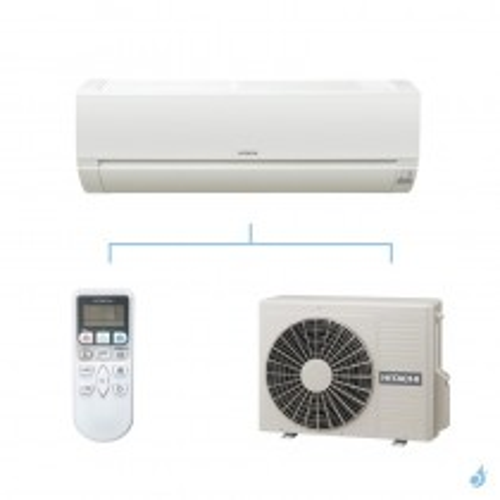 HITACHI climatisation mono split murale Dodai gaz R32 RAK-25PED + RAC-25WED 2,5kW A++