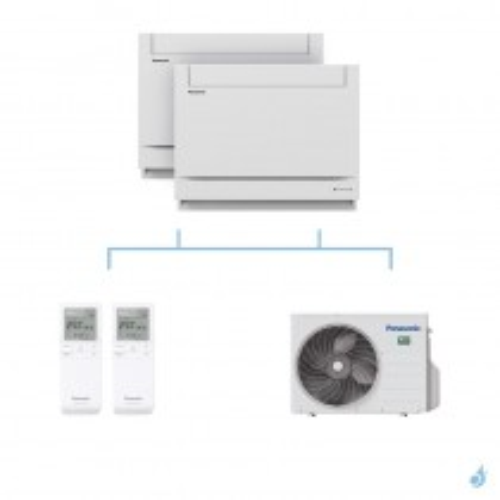 PANASONIC climatisation bi split console UFE gaz R32 CS-MZ20UFEA + CS-Z25UFEAW + CU-2Z41TBE 4kW A+++