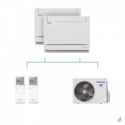 PANASONIC climatisation bi split console UFE gaz R32 CS-Z25UFEAW + CS-Z50UFEAW + CU-2Z50TBE 5kW A+++