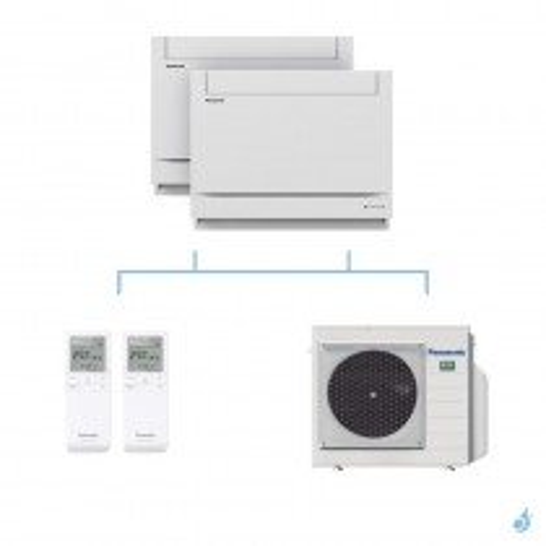 PANASONIC climatisation bi split console UFE gaz R32 CS-Z25UFEAW + CS-Z25UFEAW + CU-3Z68TBE 6,8kW A++