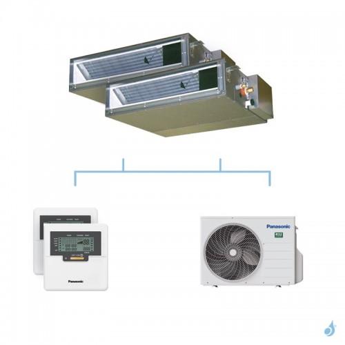 PANASONIC climatisation bi split gainable UD3 gaz R32 CS-Z25UD3EAW + CS-Z35UD3EAW + CU-2Z50TBE 5kW A+++