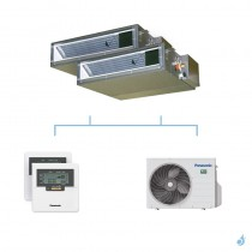 PANASONIC climatisation bi split gainable UD3 gaz R32 CS-Z25UD3EAW + CS-Z50UD3EAW + CU-2Z50TBE 5kW A+++