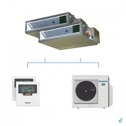 PANASONIC climatisation bi split gainable UD3 gaz R32 CS-Z25UD3EAW + CS-Z50UD3EAW + CU-3Z52TBE 5,2kW A+++