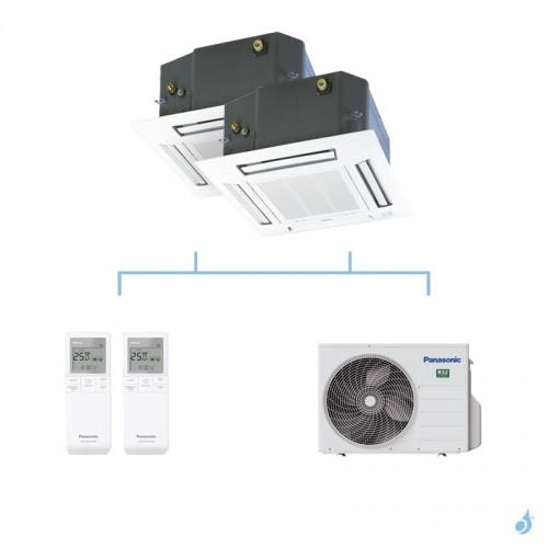 PANASONIC climatisation bi split cassette 4 voies 60x60 UB4 gaz R32 CS-Z25UB4EAW + CS-Z50UB4EAW + CU-2Z50TBE 5kW A+++