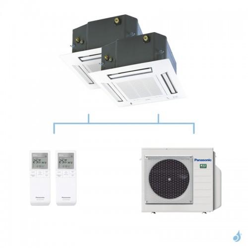 PANASONIC climatisation bi split cassette 4 voies 60x60 UB4 gaz R32 CS-Z25UB4EAW + CS-Z50UB4EAW + CU-3Z52TBE 5,2kW A+++