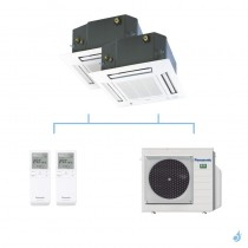 PANASONIC climatisation bi split cassette 4 voies 60x60 UB4 gaz R32 CS-MZ20UB4EA + CS-Z35UB4EAW + CU-3Z68TBE 6,8kW A++