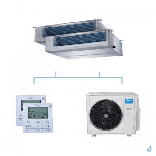 MIDEA climatisation bi split gainable gaz R32 MTIU-12FNXD0 + MTIU-12FNXD0 + M30F-21HFN8-Q 6,15kW A++