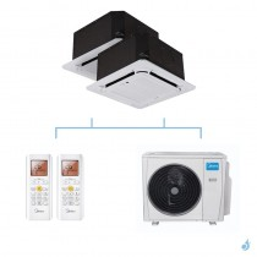MIDEA climatisation bi split cassette compacte 4 voies gaz R32 MCA3I-09FNXD0 + MCA3U-12FNXD0 + M50D-42HFN8-Q 12,31kW A++