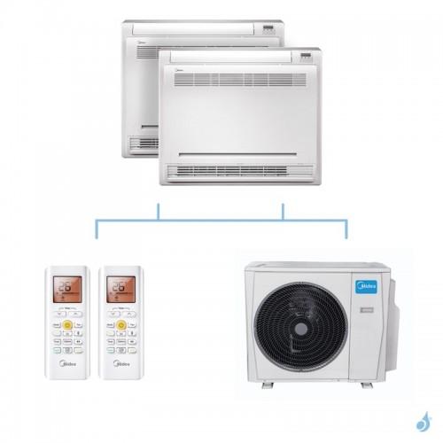 MIDEA climatisation bi split console gaz R32 MFAU-12FNXD0 + MFAU-12FNXD0 + M30F-21HFN8-Q 6,15kW A++