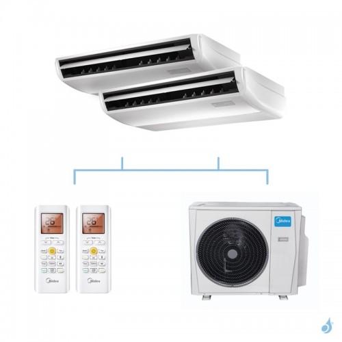 MIDEA climatisation bi split plafonnier gaz R32 MUEU-18FNXD0 + MUEU-18FNXD0 + M40E-28HFN8-Q 8,2kW A++