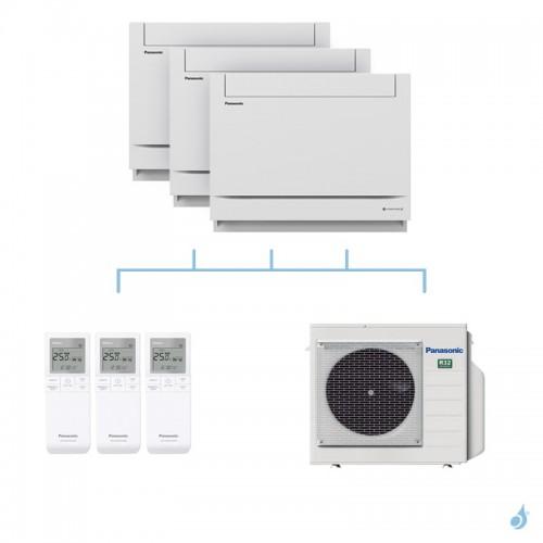 PANASONIC climatisation tri split console UFE gaz R32 CS-MZ20UFEA x2 + CS-Z25UFEAW + CU-3Z68TBE 6,8kW A++