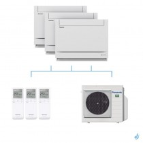 PANASONIC climatisation tri split console UFE gaz R32 CS-MZ20UFEA x2 + CS-Z50UFEAW + CU-4Z68TBE 6,8kW A++