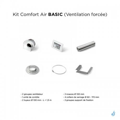 Kit complet Comfort Air Basic Ventilation Forcée pour gamme bois MCZ