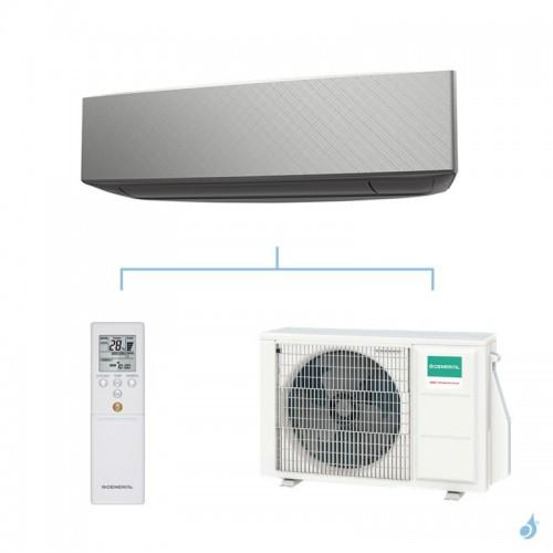 General climatisation mono split mural KETA-B gaz R32 Design Argent 2,5kW ASHG09KETA-B + AOHG09KETA A++