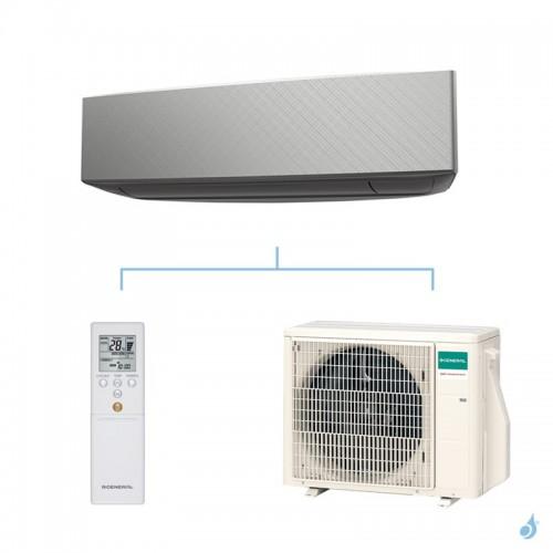 General climatisation mono split mural KETA-B gaz R32 Design Argent 4,2kW ASHG14KETA-B + AOHG14KETA A++