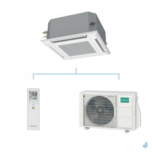 GENERAL climatisation mono split cassette 600 x 600 gaz R32 KVLA performance 3,5kW AUXG12KVLA + AOHG12KBTB A++