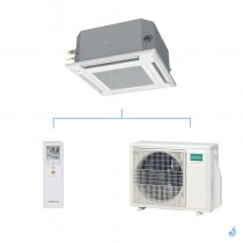 GENERAL climatisation mono split cassette 600 x 600 gaz R32 KVLA performance 5,2kW AUXG18KVLA + AOHG18KBTB A++