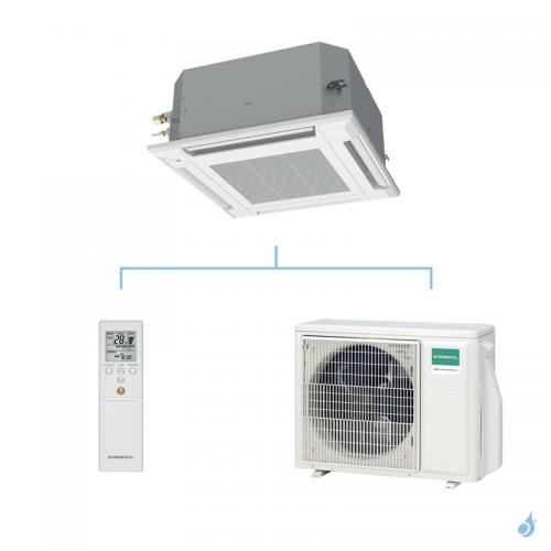 GENERAL climatisation mono split cassette 600 x 600 gaz R32 KVLA performance 6kW AUXG22KVLA + AOHG22KBTB A++