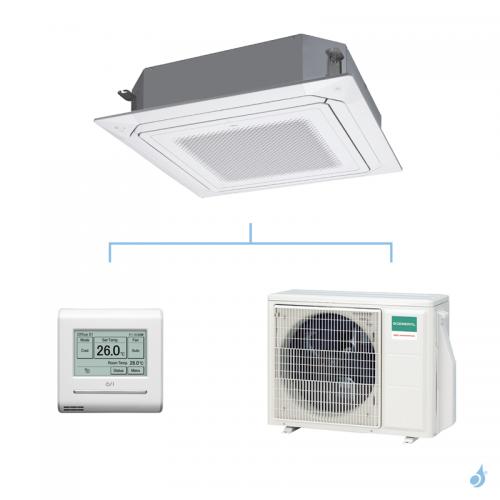 GENERAL climatisation mono split KRLB cassette 800x800 gaz R32 Performance 5,2kW AUXG18KRLB + AOHG18KBTB A++
