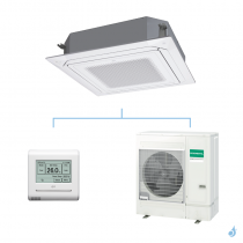 GENERAL climatisation mono split (3Ph) KRLB cassette 800x800 gaz R32 Original 13,4kW AUXG54KRLB + AOHG54KQTA A++