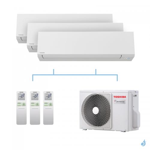 TOSHIBA climatisation Tri splits Shorai + R32 5,2kW RAS-M05J2KVSG-E + RAS-M05J2KVSG-E + RAS-B07J2KVSG-E + RAS-3M18U2AVG-E A++