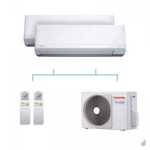 TOSHIBA climatisation bi-splits Daiseikai Light R32 4kW RAS-B10J2KVRG-E + RAS-B10J2KVRG-E + RAS-2M14U2AVG-E A++