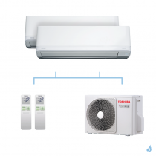 TOSHIBA climatisation bi-splits Daiseikai Light R32 5,2kW RAS-B10J2KVRG-E + RAS-B13J2KVRG-E + RAS-2M18U2AVG-E A++