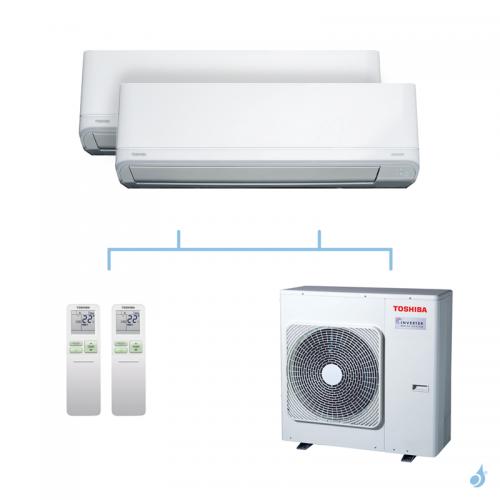 TOSHIBA climatisation bi-splits Daiseikai Light R32 8kW RAS-B10J2KVRG-E + RAS-B10J2KVRG-E + RAS-4M27U2AVG-E A++