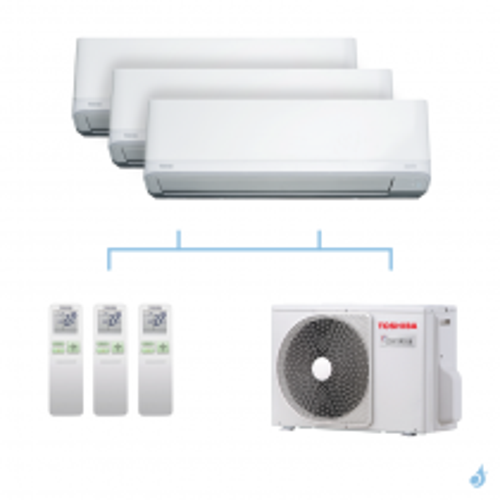 TOSHIBA climatisation tri-splits Daiseikai Light R32 5,2kW RAS-B10J2KVRG-E+RAS-B10J2KVRG-E+RAS-B13J2KVRG-E+RAS-3M18U2AVG-E A++