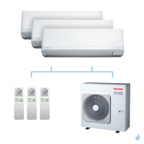 TOSHIBA climatisation tri-splits Daiseikai Light R32 8kW RAS-B10J2KVRG-E+RAS-B10J2KVRG-E+RAS-B10J2KVRG-E+RAS-4M27U2AVG-E A++