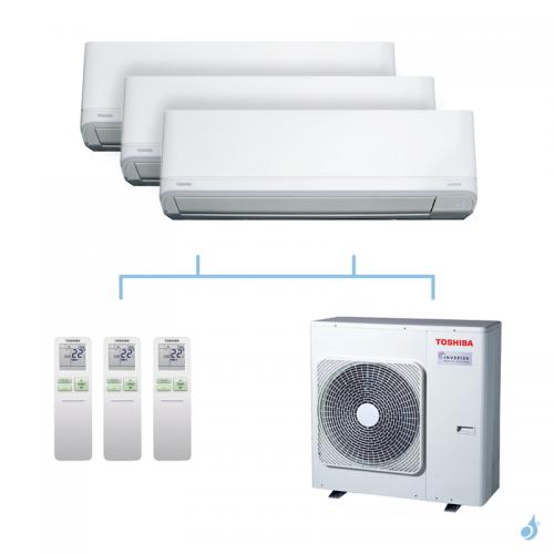 TOSHIBA climatisation tri-splits Daiseikai Light R32 8kW RAS-B10J2KVRG-E+RAS-B13J2KVRG-E+RAS-B13J2KVRG-E+RAS-4M27U2AVG-E A++