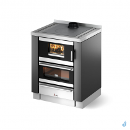 CADEL Kook 70 4.0 avec ventilation et éclairage Cuisinière à bois encastrable 6,2kW A+