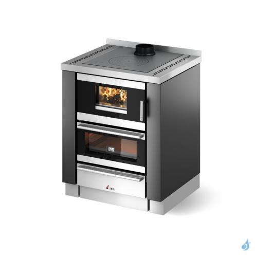 Cuisinière à bois encastrable CADEL Kook 70 4.0 avec ventilation + éclairage Puissance 6.2kW A+