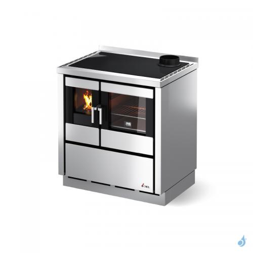 Cuisinière à bois encastrable CADEL Kook 80 avec plaque vitrocéramique Ventilation et éclairage 7,5kW A+