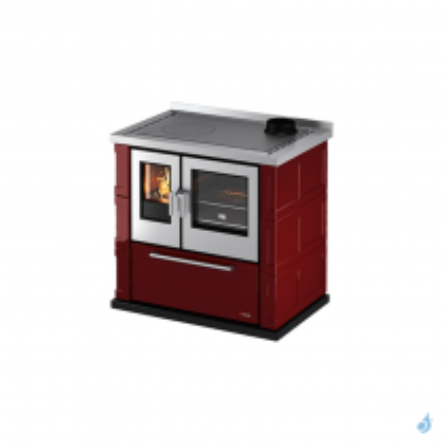 Cuisinière à bois CADEL Kook 87 plaque Vitrocéramique Ventilation + éclairage Puissance 7,5kW A+
