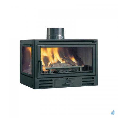EDILKAMIN Firebox Riga 49 DX Insert à bois avec vitre latérale à gauche 9,6kW A+