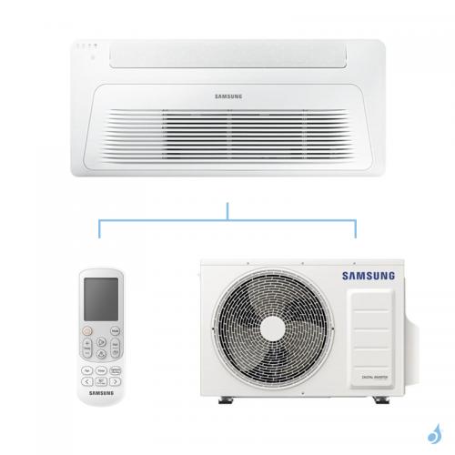 SAMSUNG Climatisation Mono Split Cassette 1 voie Wind-Free Gaz R-32 AC026RN1DKG 2.6kW A++/A+