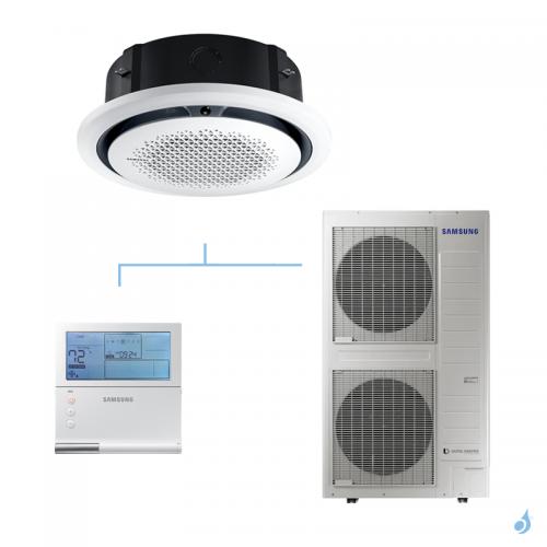 SAMSUNG Climatisation Mono Split Cassette Round Flow 360 Façade Ronde Triphasé Gaz R-32 AC140RN4PKG 13,4kW