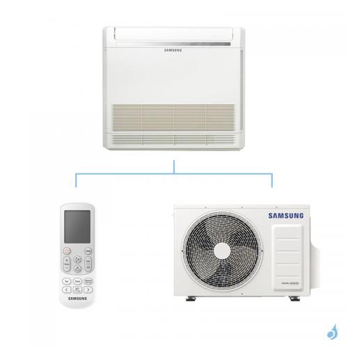 SAMSUNG Climatisation Console au sol Mono Split Gaz R-32 AC026RNJDKG 2.6kW A++/A+