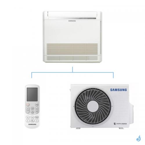 SAMSUNG Climatisation Console au sol Mono Split Gaz R-32 AC052RNJDKG 5kW A+/A+