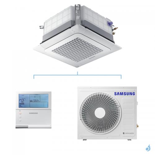 SAMSUNG Climatisation Mono Split Cassette 4 voies Wind-Free 800x800 Gaz R-32 AC052RN4DKG 5kW A++/A+