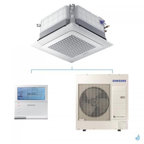 SAMSUNG Climatisation Mono Split Cassette 4 voies Wind-Free Monophasé 800x800 Gaz R-32 AC100RN4DKG 10kW A++/A+